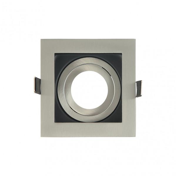 Empotrable Orient.batu 1xgu10 Cuadrado Niq/negro 0,5x10x10 Cm Corte 9,5 c/portalampara