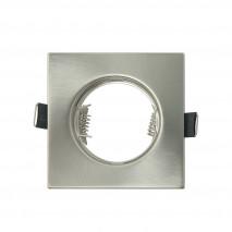 Empotrable  Magura 1xgu10  Cuadrado Niquel 0,5x8,2x8,2  Cm Corte 6 Portalamparas Incluido