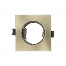 Empotrable  Magura 1xgu10  Cuadrado Cuero 0,5x8,2x8,2  Cm Corte 6 Portalamparas Incluido