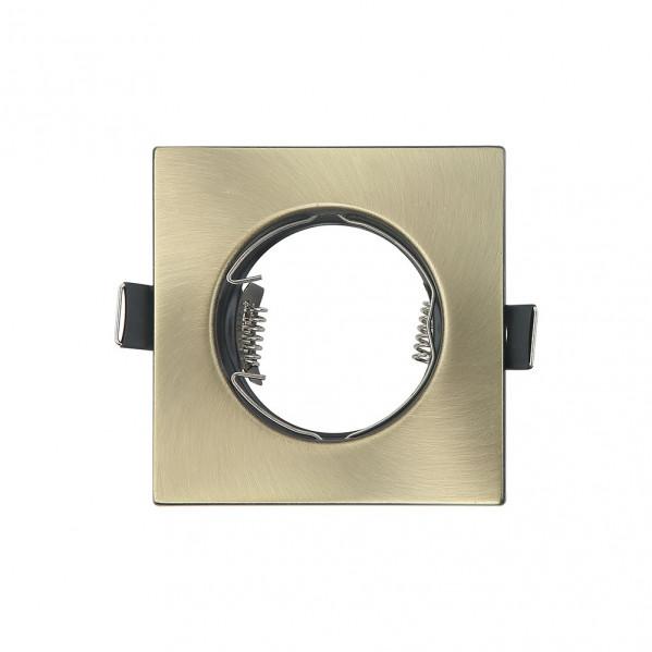 Empotrable  Magura 1xgu10  Cuadrado Cuero 2,5x8,2x8,2  Cm Corte 7 Portalamparas Incluido