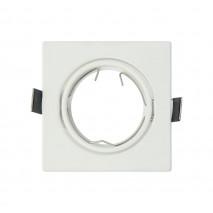 Empotrable  Orient. Magura 1xgu10  Cuad. Blanco  0,5x8,2x8,2  Cm Corte 7 Portalamparas Incluido