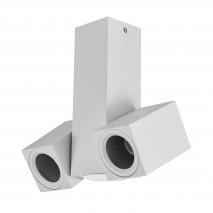 Foco Nerja 2xgu10 Blanco 21x19x6 Cm Orientable 360º