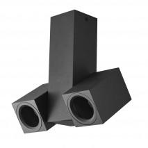 Foco Nerja 2xgu10 Negro 21x19x6 Orientable 360º