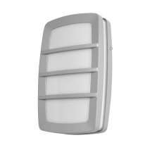 Aplique Exterior Aluminio Capella 1xe27 Gris Ip44 8,5x30x18,5 Cm