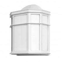 Aplique Exterior Aluminio Bellatrix 1xe27 Blanco  25x11x19,5 Cm Ip44