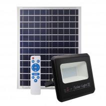 Proyector Solar Malaquita 60w 6500k Negro 5400lm (23x25,5x6,5)(35x35x2)cm Mando Y Cable 5m