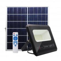 Proyector Solar Malaquita 40w 6500k Negro 3600lm (20,5x23x6)(35x23,5x2)cm mando y Cable 5m
