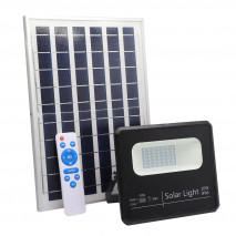 Proyector Solar Malaquita 20w 6500k Negro 1800lm (19,5x17x5)(35x23,5x2)cm Mando  Y Cable 5m