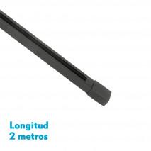 Carril Para Foco Pindal Negro 2m  2 Hilos 3,5x200x2 Cm