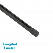Carril Para Foco Pindal Negro 1m  2 Hilos 3,5x100x2 Cm