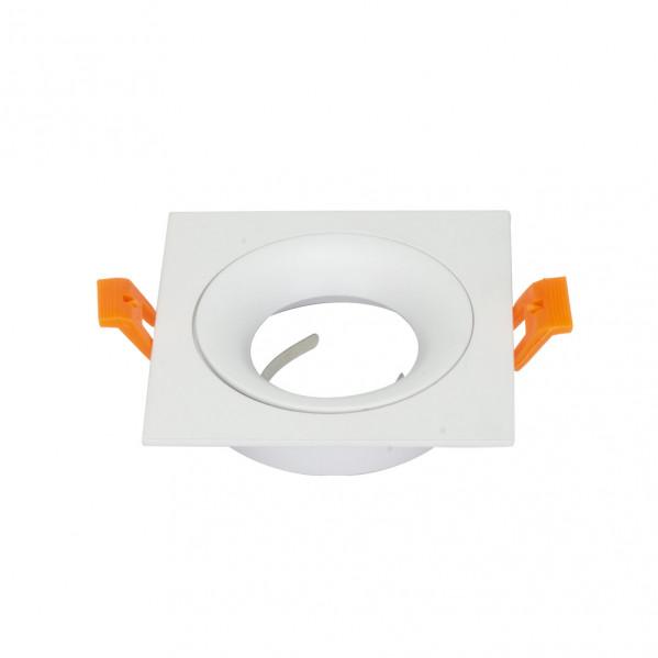 Empotrable Anou 1xgu10 Cuadrado Blanco 2x9,2x9,2 Cm 8 De Corte. Portalampara Incluido