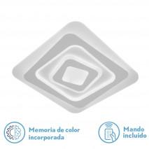 Plafon Vegas 150w 3000-4000-6500k Blanco 5x48x48cm 11250lm Regulable,memoria Y C.remoto