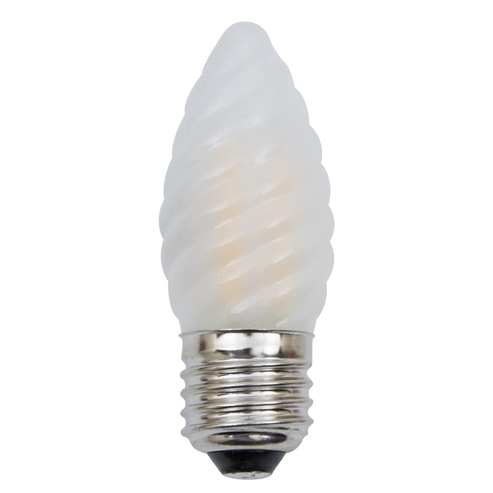 bombilla led vela rizada e27 4w 450l 3000k 9x3 5d fabrilamp