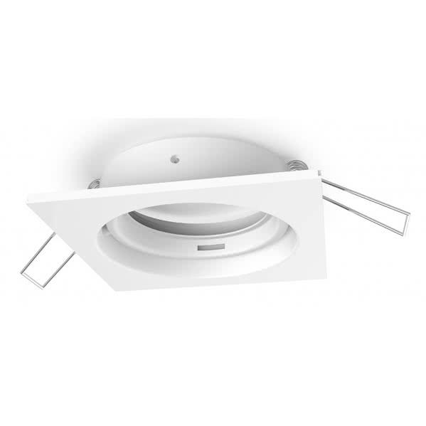 Aro Empotrable Serie Inteca Cuadrado Orientable Blanco 8x8