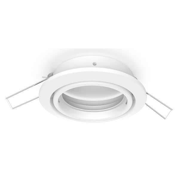 Aro Empotrable Serie Inteca Redondo Orientable Blanco 8d