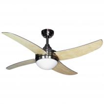 Ventilador Niquel Osiris 4 Aspas Plata/haya 2xe27 116,85d