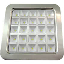 Downlight Cuad. Amon Led 25w 2200lm Niquel 22.5x22