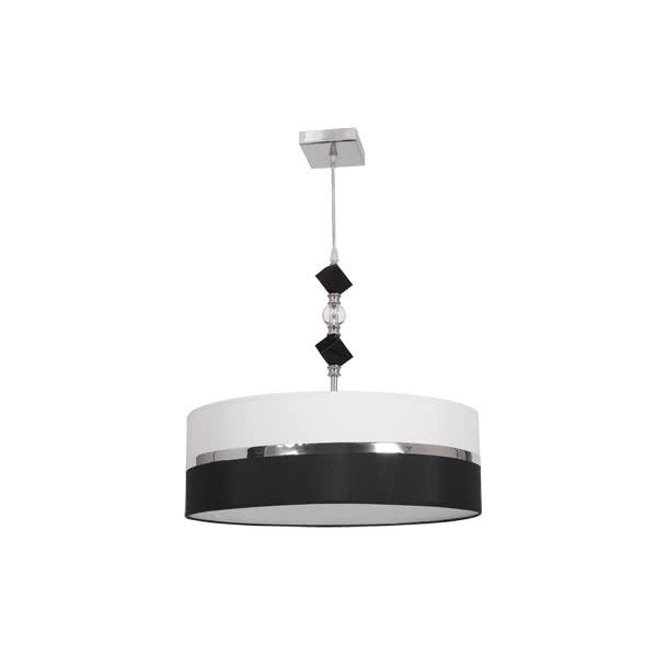 Colgante 45 D Serie Milos Negro/blanco 2xe27 (regx45 D)