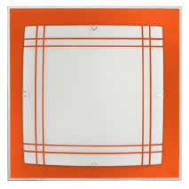 Plafon Serie Egipto Naranja Led 15w 1200 Lm (32x32x6)
