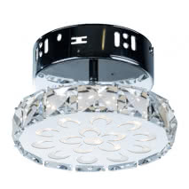 Plafon Serie Argon Circulo Cristal 7w Led 700 Lm 10x16d