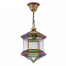 Farol Granadino Hexagonal Colores 1xe27 28x20