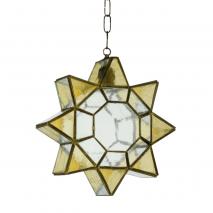 Colgante Estrella Ambar/cuero 1 L. REGX31X21