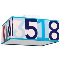 Plafon Serie Numeros Celeste 2xe27 16x35x35