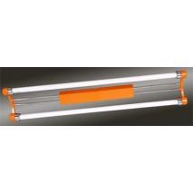 Fluorescente 2x18w Naranja/cromo
