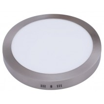 Downlight Sup. Red. Aquiles Led 18w Niquel 1425lm 22,5dx4h 6500k