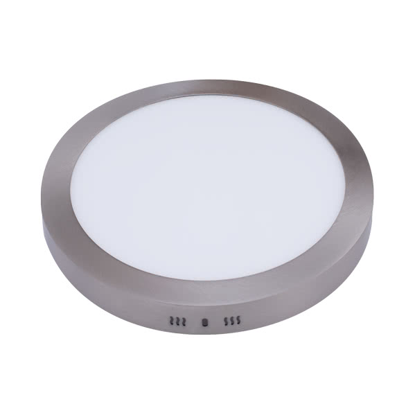 Downlight Sup. Red. Aquiles Led 24w Niquel 1800lm 30dx4h 6500k