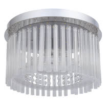 Plafon Serie Insbrusque Cromo/cristal Led Smd 18w 1520lm 4000k 21x37d