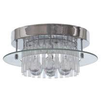 Plafon Serie Tallinn Cromo/cristal Led Smd 17w 1430lm 4000k 16x40d