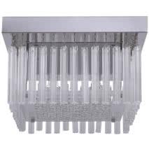 Plafon Serie Kiev Cromo/cristal Led Smd 18w 1530lm 4000k 17x30x30
