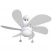 Ventilador Blanco Delfin 6 Aspas Blanc0 1xe27 41x65 D
