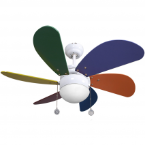 Ventilador Colores Delfin 6 Aspas Color 1xe27 41x65d