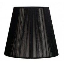 Pantalla Conica Hilo Serie Indira Pinza Negra (14x8x9.5)