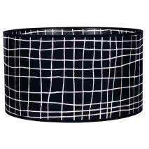 Pantalla Cilindrica Serie Jenifer E27 Cuadro Negro 18x30 D