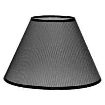 Pantalla Conica Serie Karina E27 Rejilla Negra 16dx8dx13h