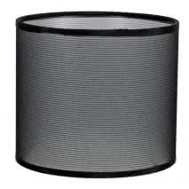 Pantalla Cilindrica Serie Karina E27 Rejilla Negra 18x30 D