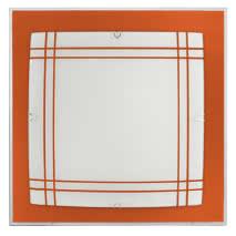 Plafon Serie Amet Naranja 2xe27 (32x32x6)