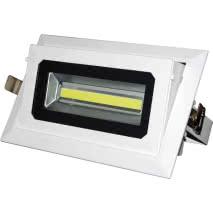 Downlight Zara 20 W. Blanco 6500k 1560lm 120º 23,5x15x9