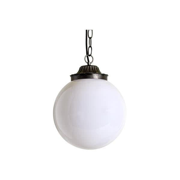 Colgante Exterior Esfera Blanco (35x25) 1xe27