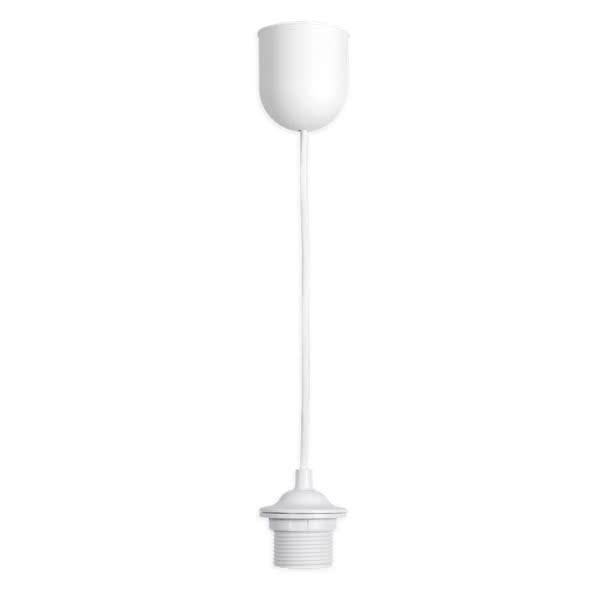 Montura Plastico Blanca 1xe27 60cm