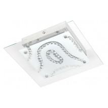 Plafon Led Serie Santana Cristal/cromo12w 1000lm 4000k 28x28