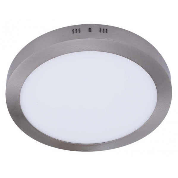 Downlight Sup.red. Aquiles Led 18w Niquel 1425lm 22,5dx4h 4000k