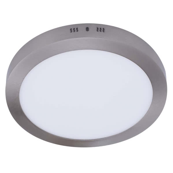 Downlight Sup.red. Aquiles Led 24w Niquel 1800lm 30dx4h 4000k