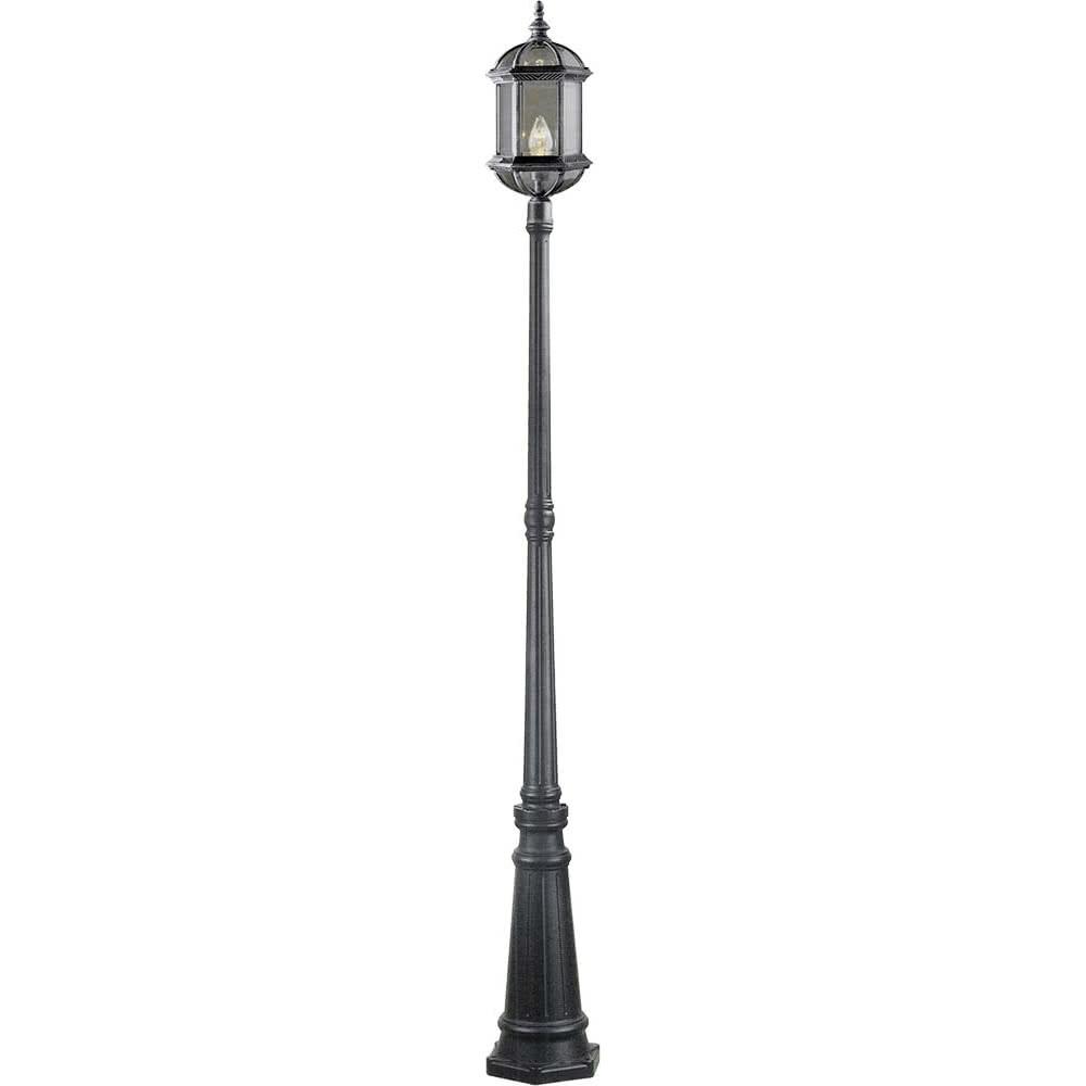 Farola exterior amapola 1xe27 plata negro 222x28 fabrilamp for Faroles para exterior precios