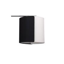 Pantalla Lampara Doble 16 D. Serie Andaman E14 Negro/blanco