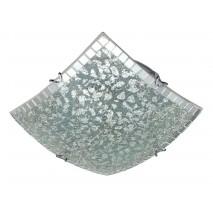 Plafon Cuadrado Carbono Cromo 2xe27 30x30