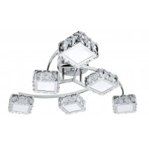 Lampara 72w 4000k Luciente Cromo 5760lm Cristal 20x60d